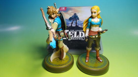 Link and Zelda Amiibo characters