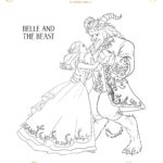 Beauty And The Beast Coloring Pages - Belle and Beast