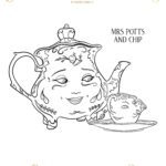 Beauty And The Beast Coloring Pages - Mrs. Potts and Chip