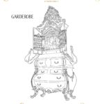 Beauty And The Beast Coloring Pages - Garderobe