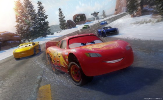Cars 3 Winter Race Screenshot