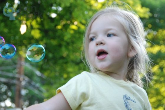 Eva and Bubbles
