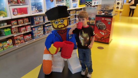 Chilling at the LEGO Store