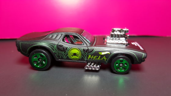 Hela Themed Hot Wheels Car