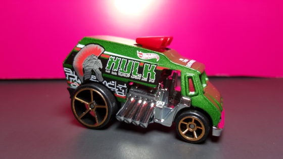 Hulk Themed Hot Wheels Car