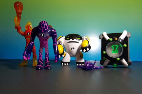 Heatblast Upgrade CannonBolt and the Deluxe Omnitrix
