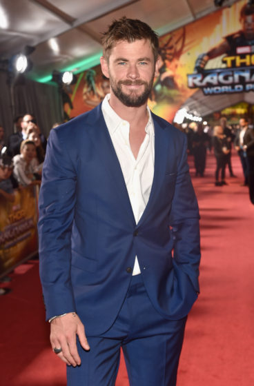 Chris Hemsworth at the World Premiere Of Marvel Studios Thor Ragnarok