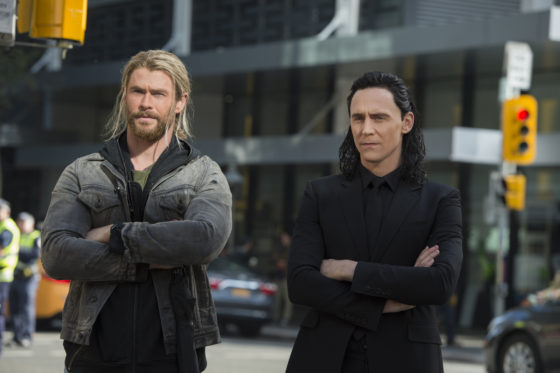 Thor and Loki on Earth