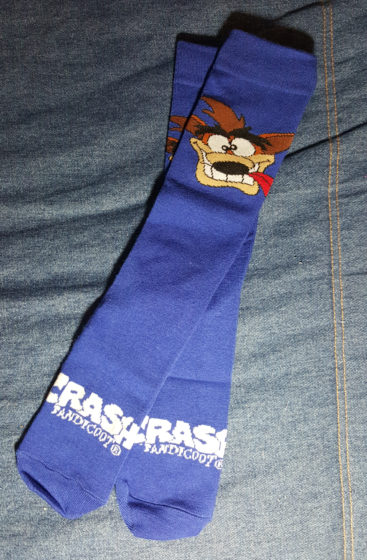 Crash Bandicoot Socks
