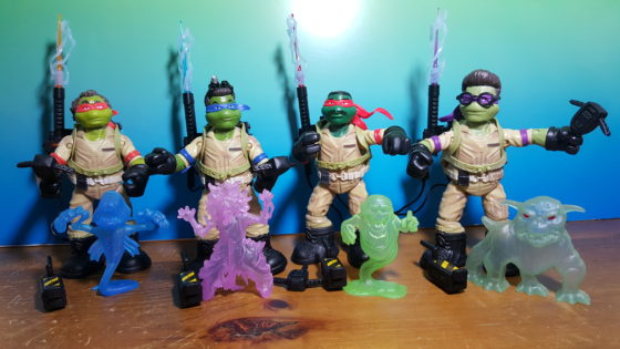 Ninja Ghostbusters out of boxes