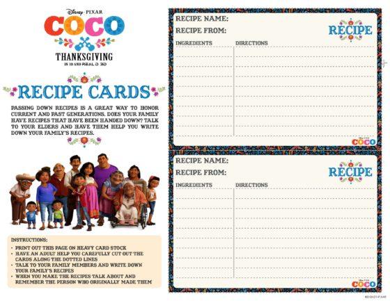 Coco Recipe Cards