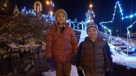 Kids at La Salette