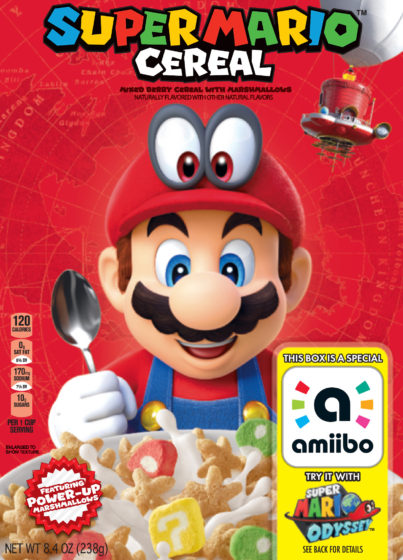 Super Mario Cereal Box
