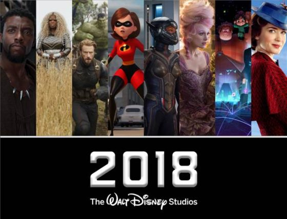 Disney 2018 Slate of Movies