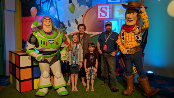 Meeting Woody and Buzz