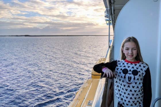 Eva On Our Veranda on the Disney Dream