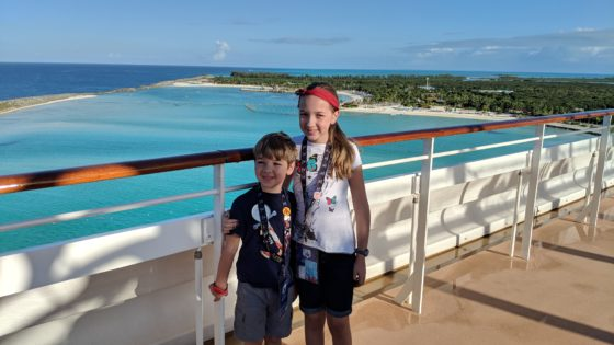 Arriving at Castaway Cay