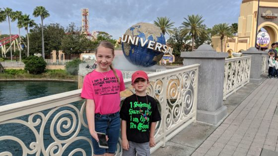 The Kids at Universal Studios Orlando