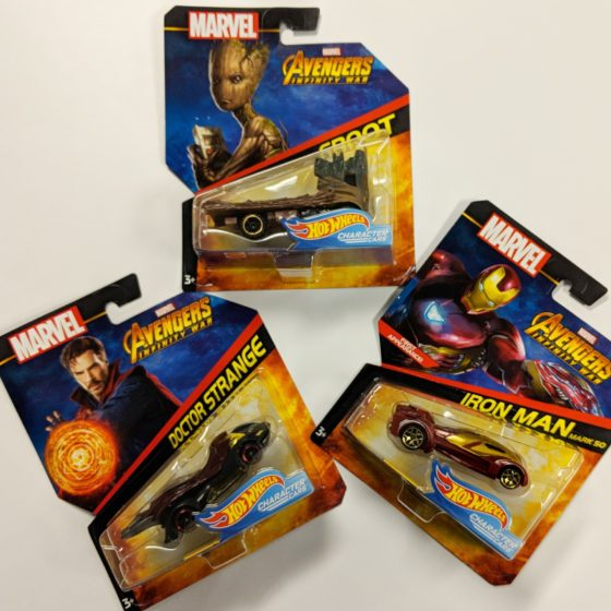 Hot Wheels Character Cars - Avengers Infinity War
