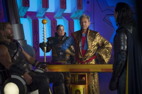 Thor with Grand Master Topaz and Loki
