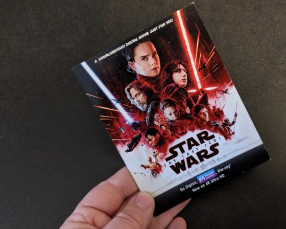 Star Wars The Last Jedi Digital Download