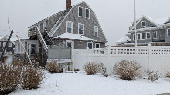 Snow on the Cape House