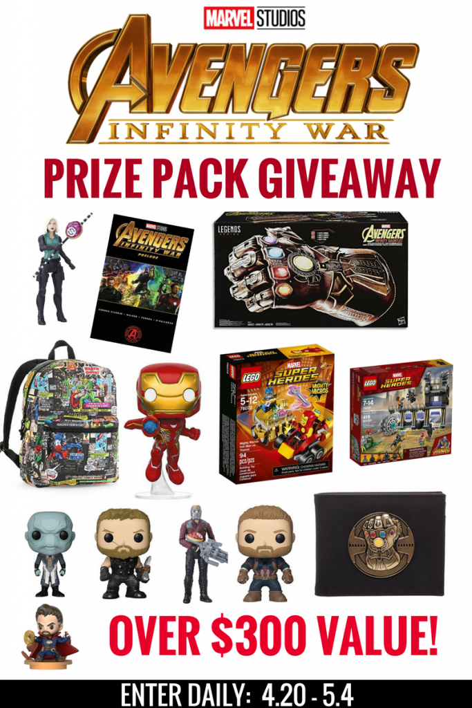 Avengers: Infinity War Giveaway! Over $300 in Prizes!