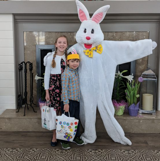 With the Easter Bunny