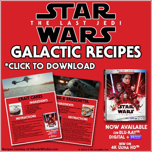 Star Wars The Last Jedi Recipes