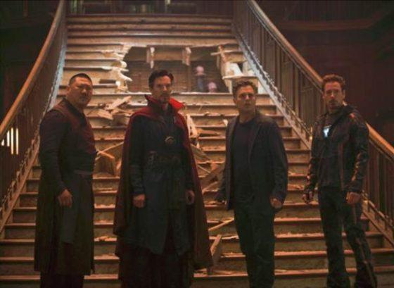 Assualt on the Sanctum - Wong Doctor Strange Bruce Banner and Tony Stark