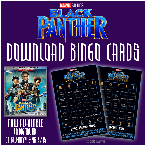 Black Panther Bingo Cards