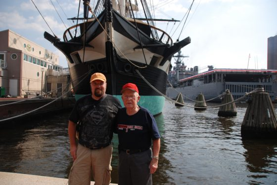 With Grandpa Bennett at Baltimore Inner Harbor 2010