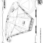 Han Solo Millennium Falcon Coloring Page