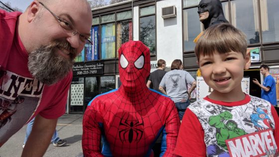With Spider-Man at Free Comic Book Day