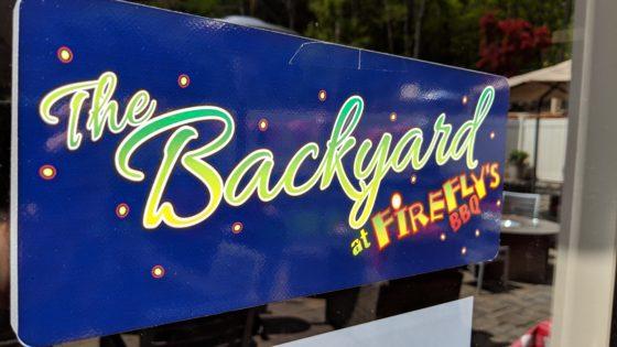 FireflysBBQ Backyard Sign