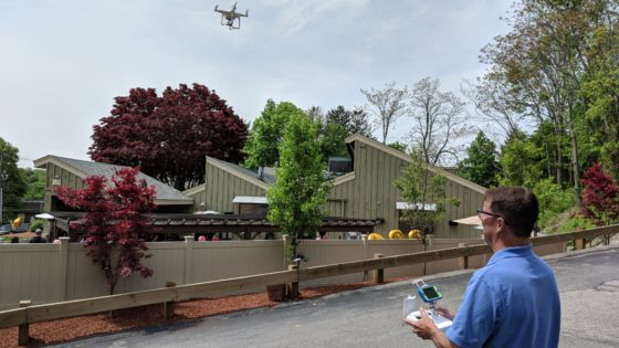 Jeff Flying a Drone at Fireflys BBQ