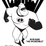Incredibles 2 Mr Incredible Coloring Page