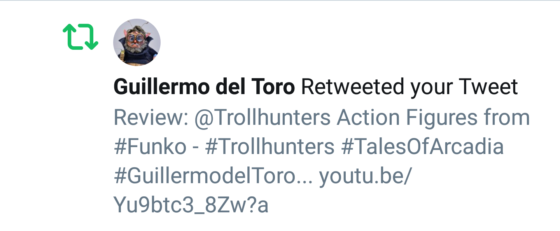 Tweet from Guillermo del Toro