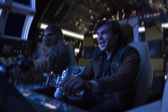 Han and Chewy in the Millennium Falcon
