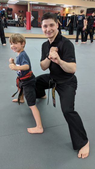 Andrew Earns His Red Belt