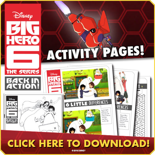 Big Hero 6 Back in Action Activity Pages