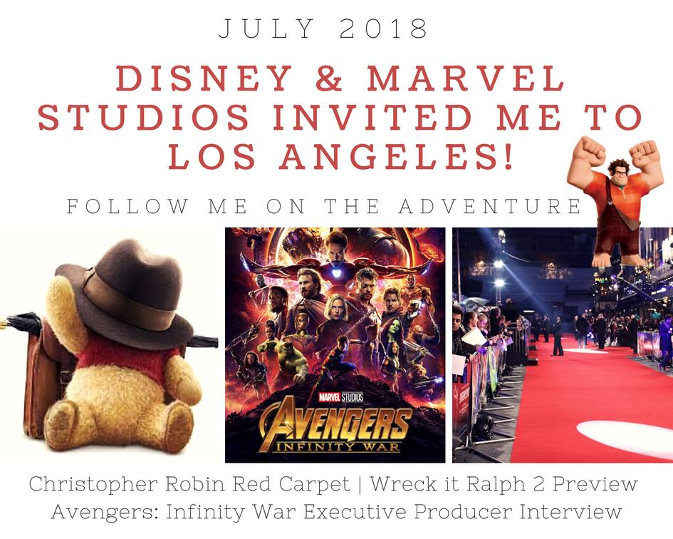 I'm Headed to California to Hang with Christopher, Ralph and Thanos