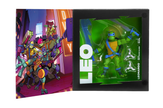 Rise of the Teenage Mutant Ninja Turtles SDCC Exclusive Leonardo in Box