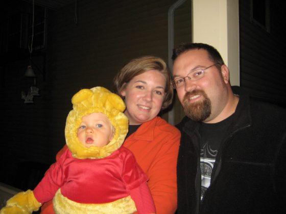 Eva as Winnie the Pooh
