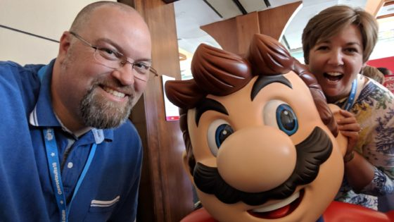 Hanging with Mario