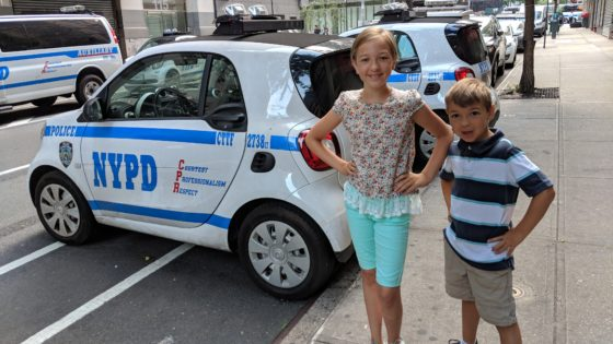The Kids Loved the Police Smart Cars
