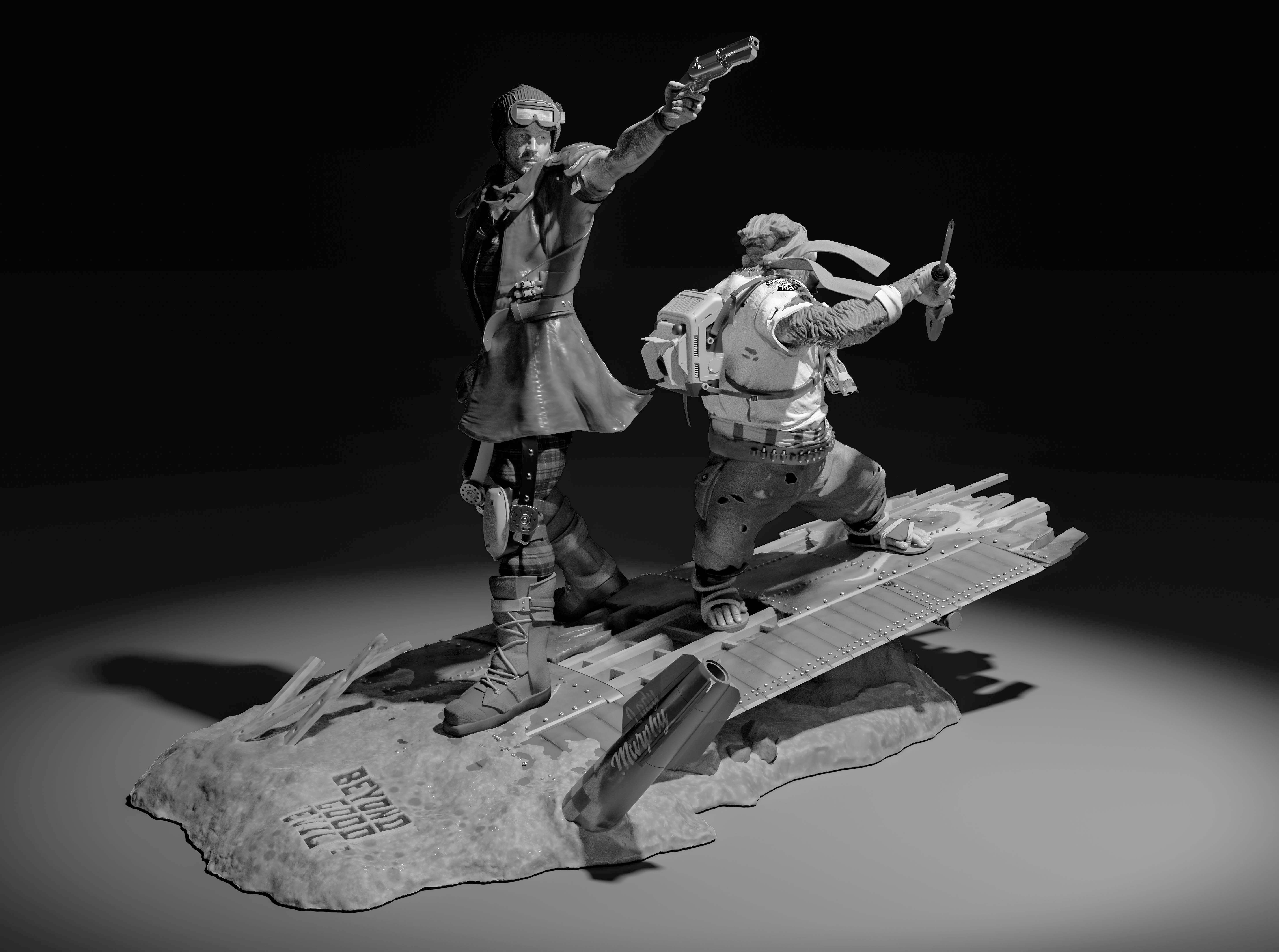 Beyond Good and Evil 2 Limited-Edition Statue Featuring Callum and Knox Unveiled at SDCC