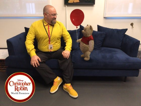Chatting with Winnie the Pooh Bear