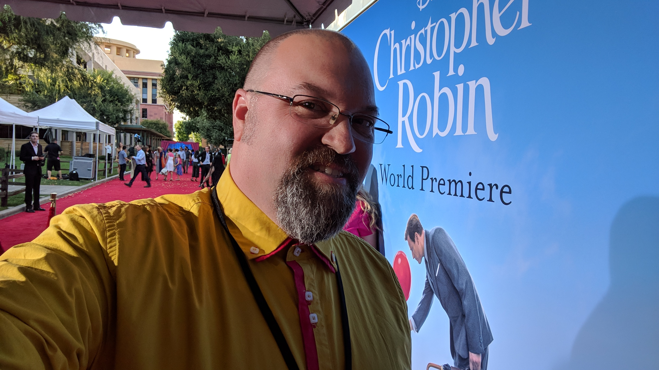 Walking the Christopher Robin Red Carpet