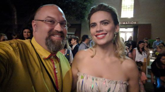 Selfie with Hayley Atwell